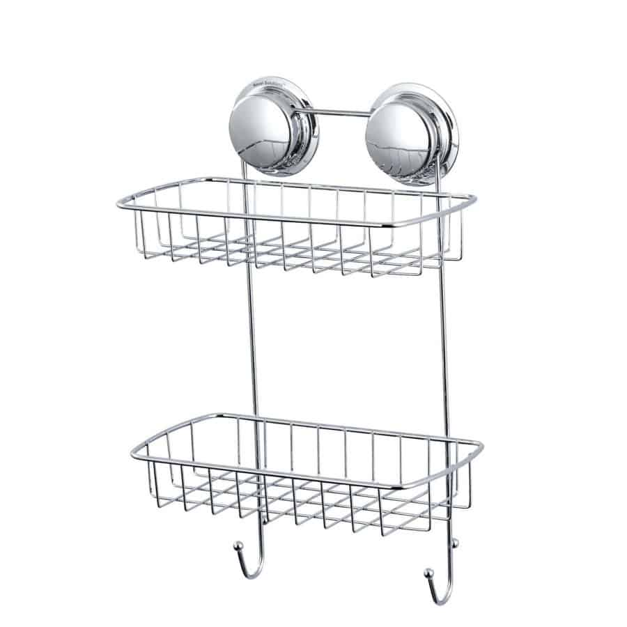 Suction Chrome Wire Double Basket