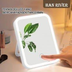 HAN RIVER LED Light Square Beauty Mirror
