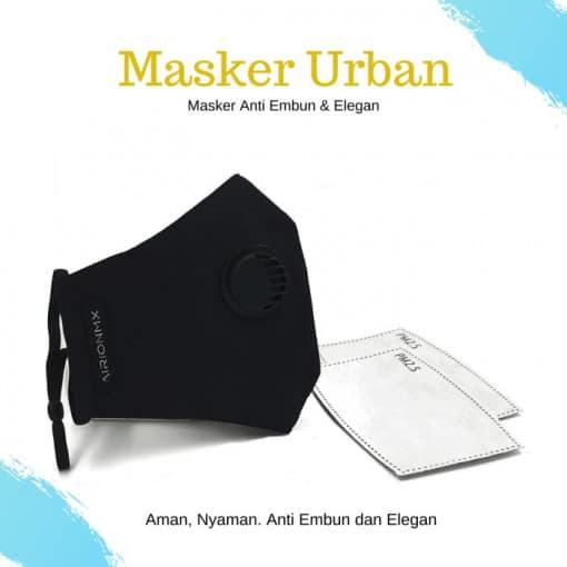 AIRIONMX Masker Urban 3 Ply Model 3 dan Filter Masker 2 Pcs