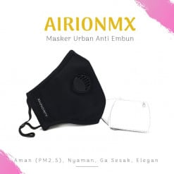 AIRIONMX Masker Urban 3 Ply Model D dan Filter Masker 2 Pcs