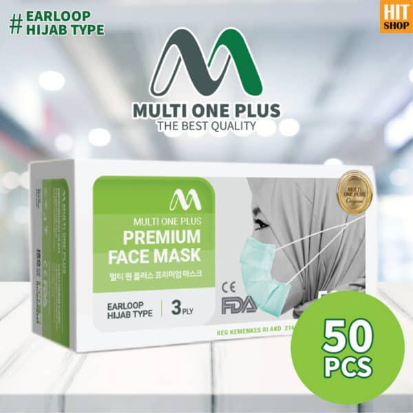 Masker Premium Multi One Plus 3 Ply Hijab Type
