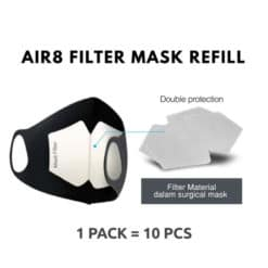 Air8 Filter Mask Refill – Pelapis Masker (Isi 10 Pcs)