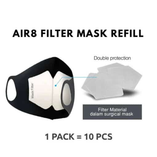Air8 Filter Mask Refill – Pelapis Masker (Isi 10 Pcs)