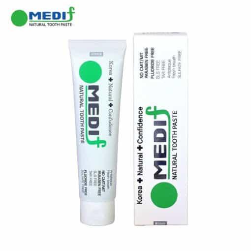 MEDIF - Pasta Gigi Sensitif Korea, Natural, Bebas Bau Mulut (130gr)