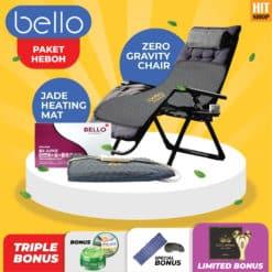 PAKET BELLO Zero Gravity Chair + Jade Heating Mat, BONUS Gold Lifting Roller