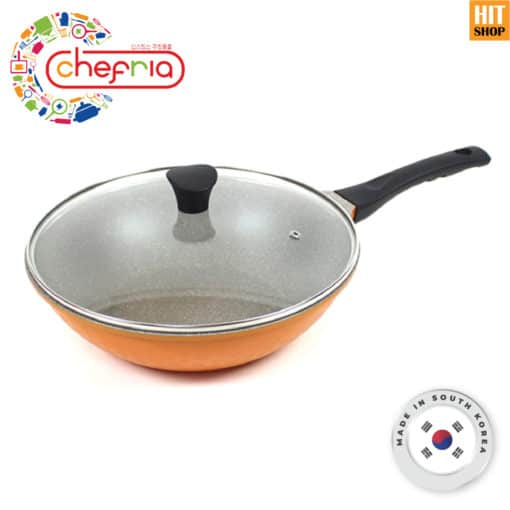 CHEFRIA Vivid Wok Pan and Glass Lid