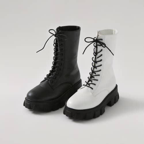 Jacqueline Lace-up Calf Combat Boots