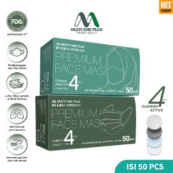 Premium Face Mask 4 Ply Carbon