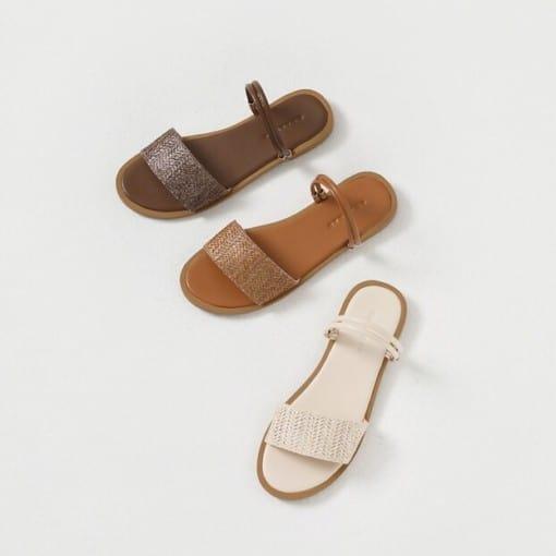Oslo Two-way-wear Rattan Sandals