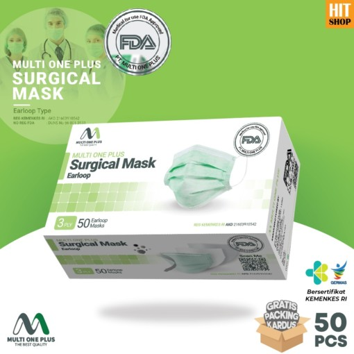 Multi One Plus 3 Ply Surgical Mask Earloop